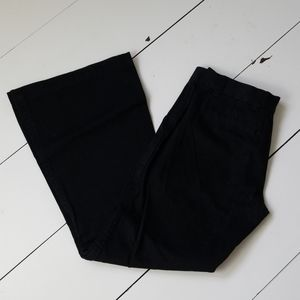 Moda International Black Flare Chino Pants